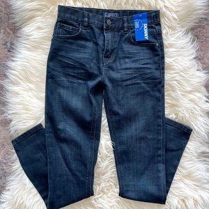 NWT boys dark blue skinny jeans size 10